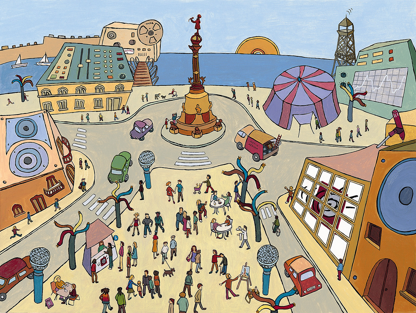 Il·lustració de l'empresa ARTE I RUIDO, serveis d'audio