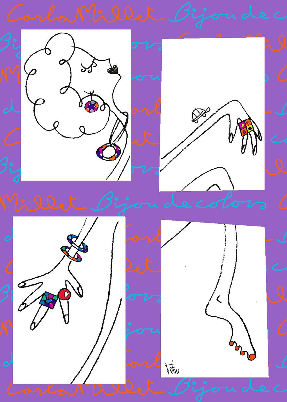 Postal Bijou de Colors, bisuteria