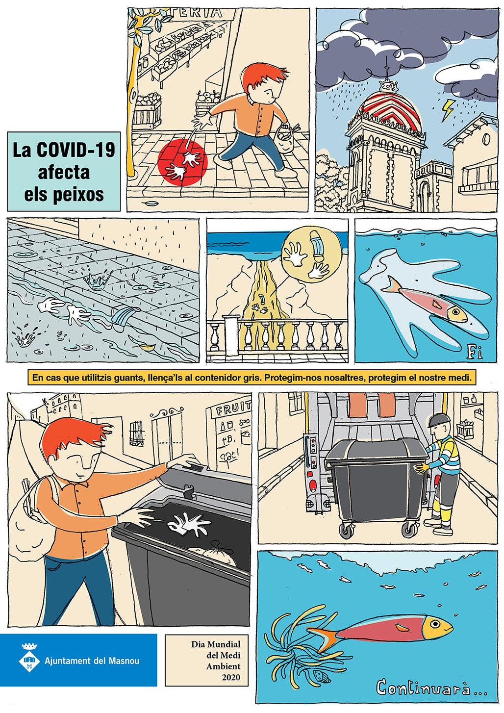 Historieta La COVID-19 afecta els peixos