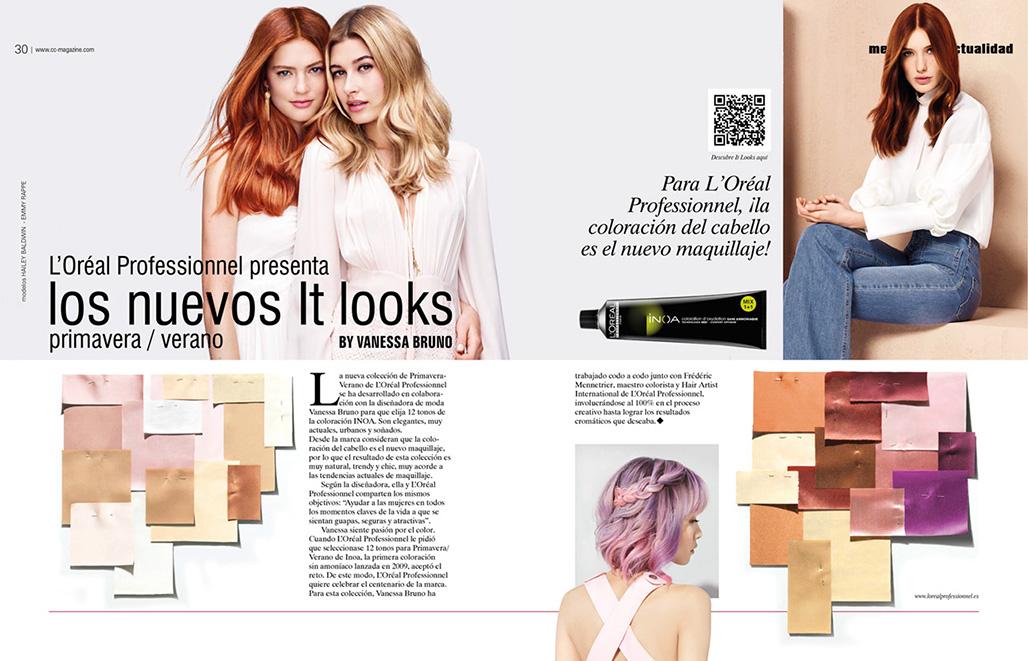 "Doble pàgina revista CC Magazine 173 ""Report L'Oréal Professionnel"""