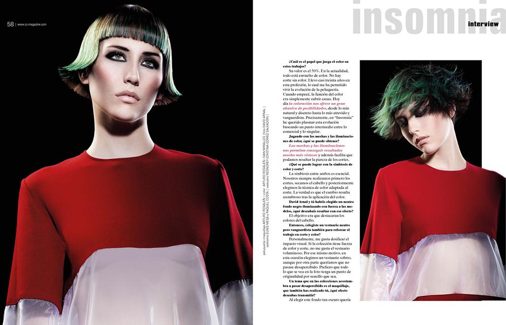 "Doble pàgina revista CC Magazine 173 ""Interview"""