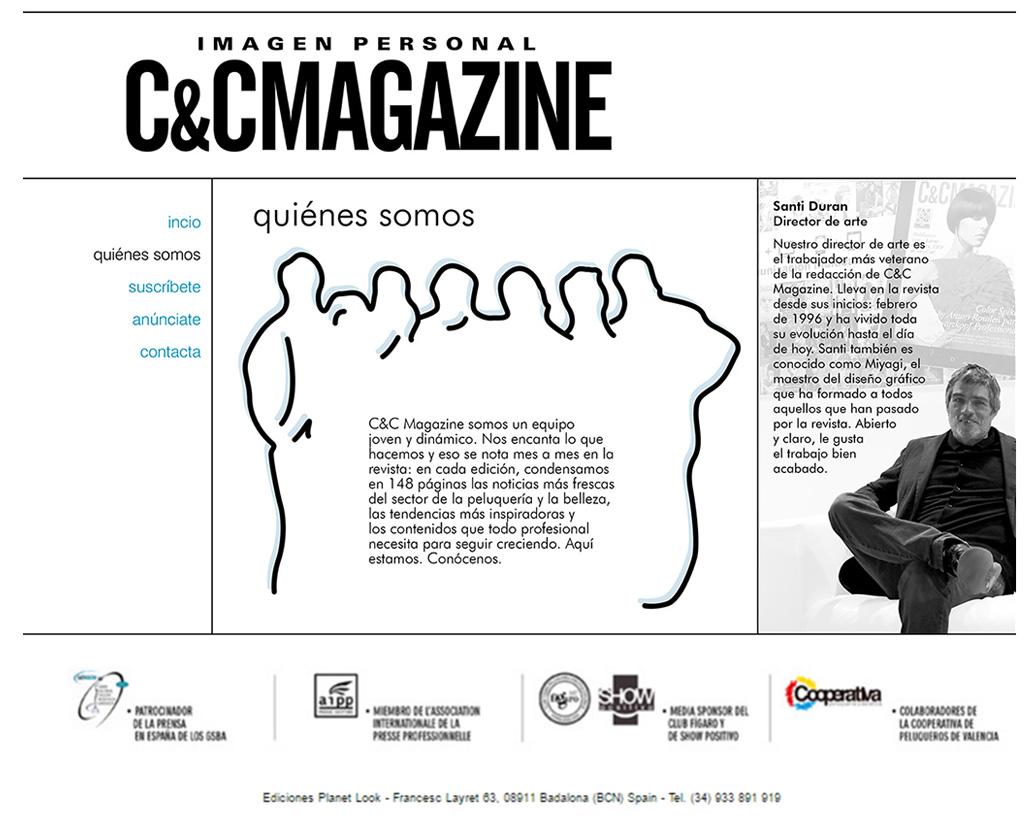 Web CCMagazine Quienes Somos, Santi Duran director de arte desde sus inicios 1996