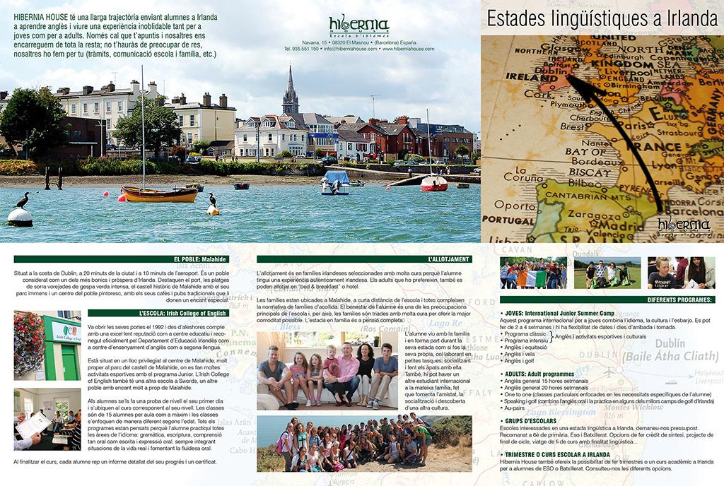 TRIPTIC Estades lingüístiques a Irlanda, Hibernia House