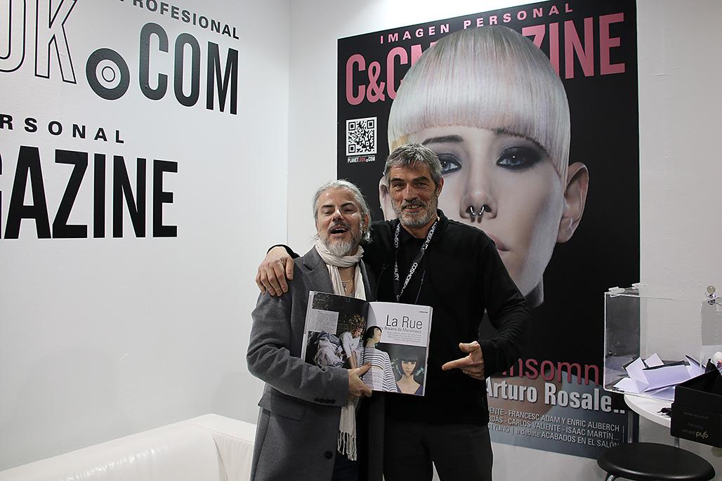 Amb el meu amic i perruquer Manolo Collado