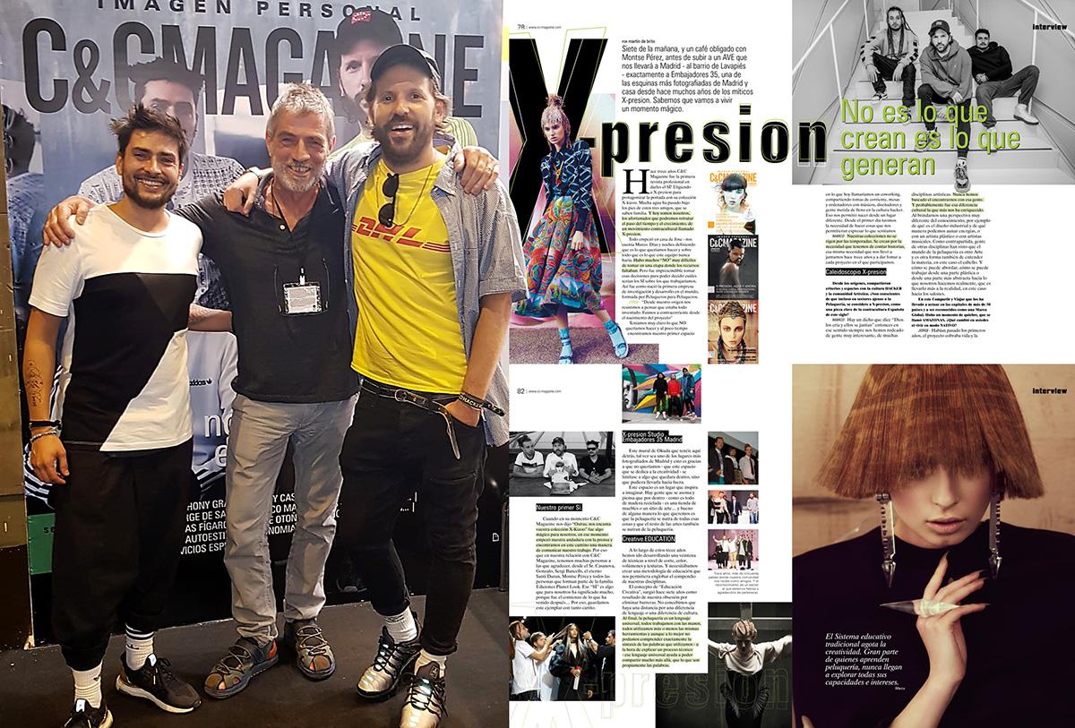 Con Jorge y Marco de X-presion los The Rolling Stones de la peluquería