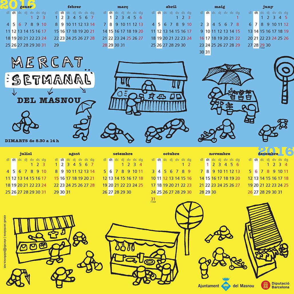 Calendari Mercat Setmanal del Masnou